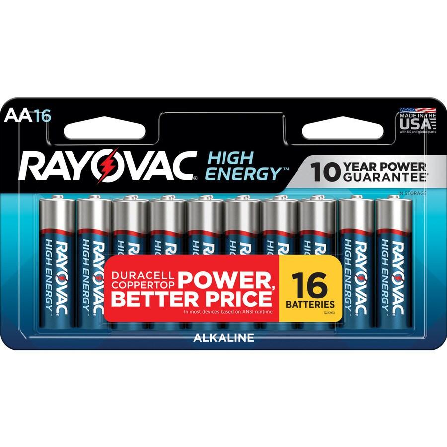 Rayovac 16-Pack AA Alkaline Batteries