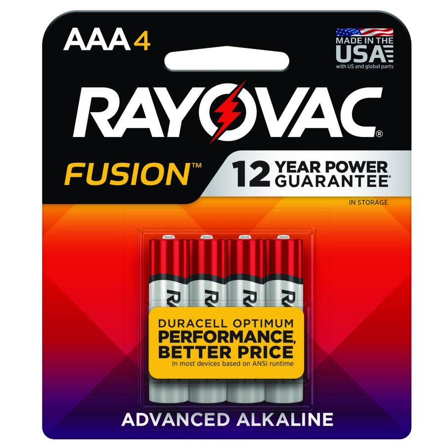 Rayovac 4-Pack AAA Alkaline Battery