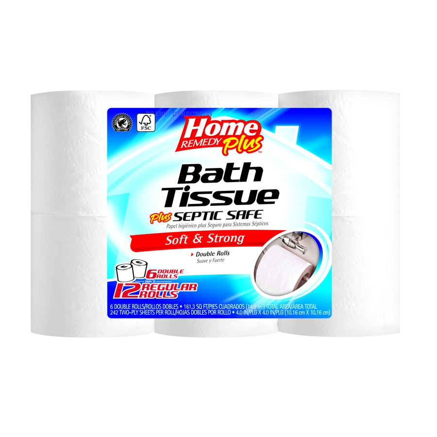 Home Remedy Plus 6-Pack Toilet Paper
