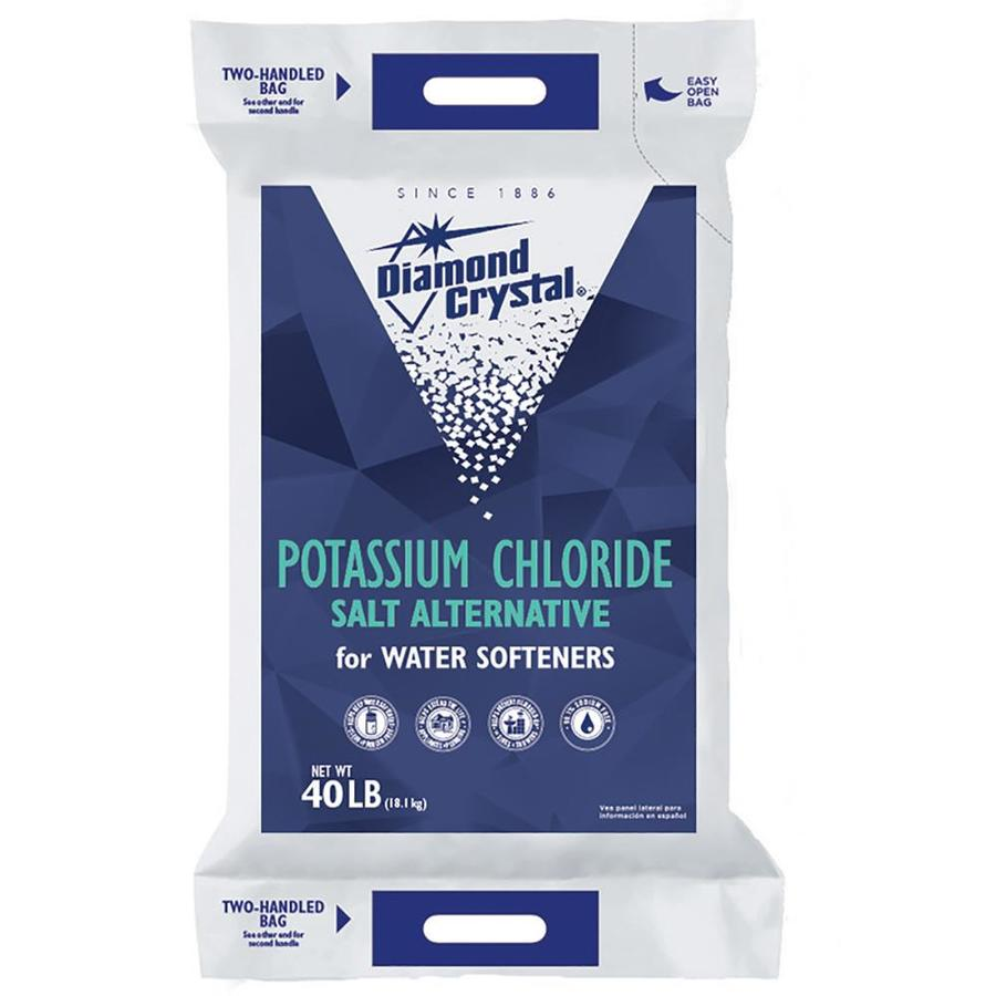 Diamond Crystal 40 lbs Water Softening Salt Potassium Chloride
