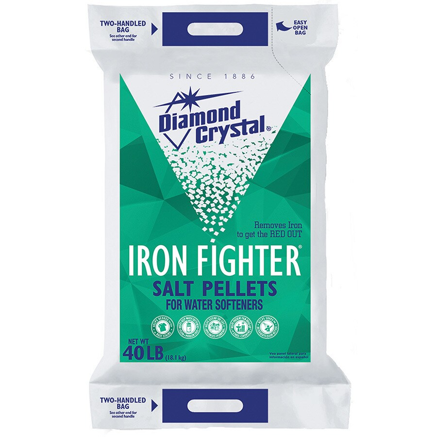 Diamond Crystal 40 lbs Water Softening Salt Pellets with Iron Reduction