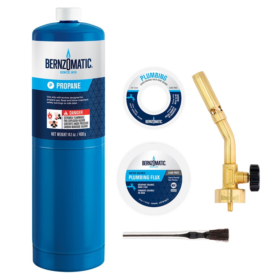 BernzOmatic 5-Piece Brass Pencil Flame Plumbing Torch Kit