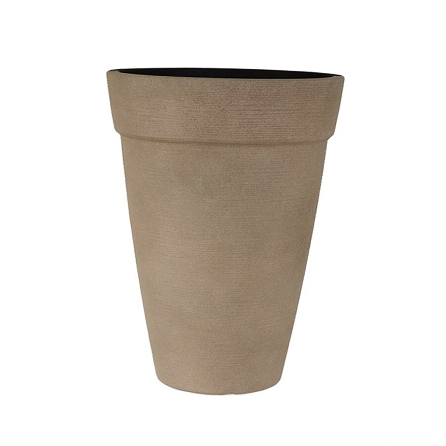 Grosfillex 15.98-in x 20.98-in Pietra Resin Shell Planter