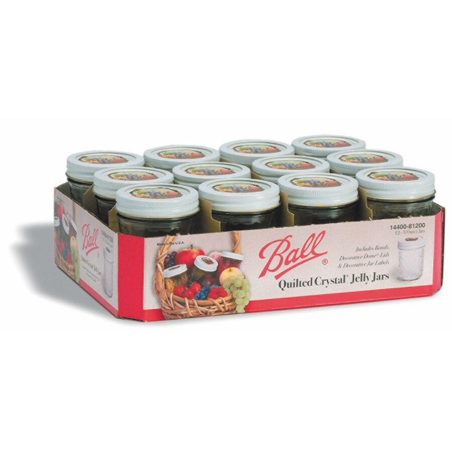 Ball 12-Pack 8-oz Glass Jelly Jars with Lids