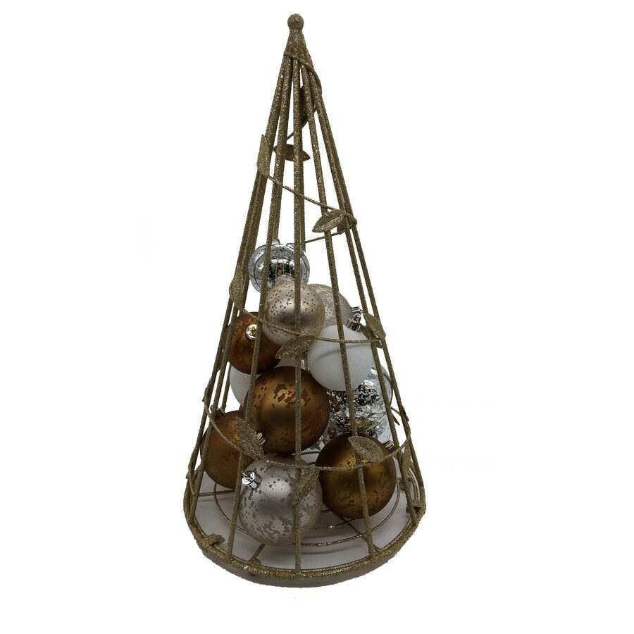 allen + roth Metal Freestanding Ornament Stand