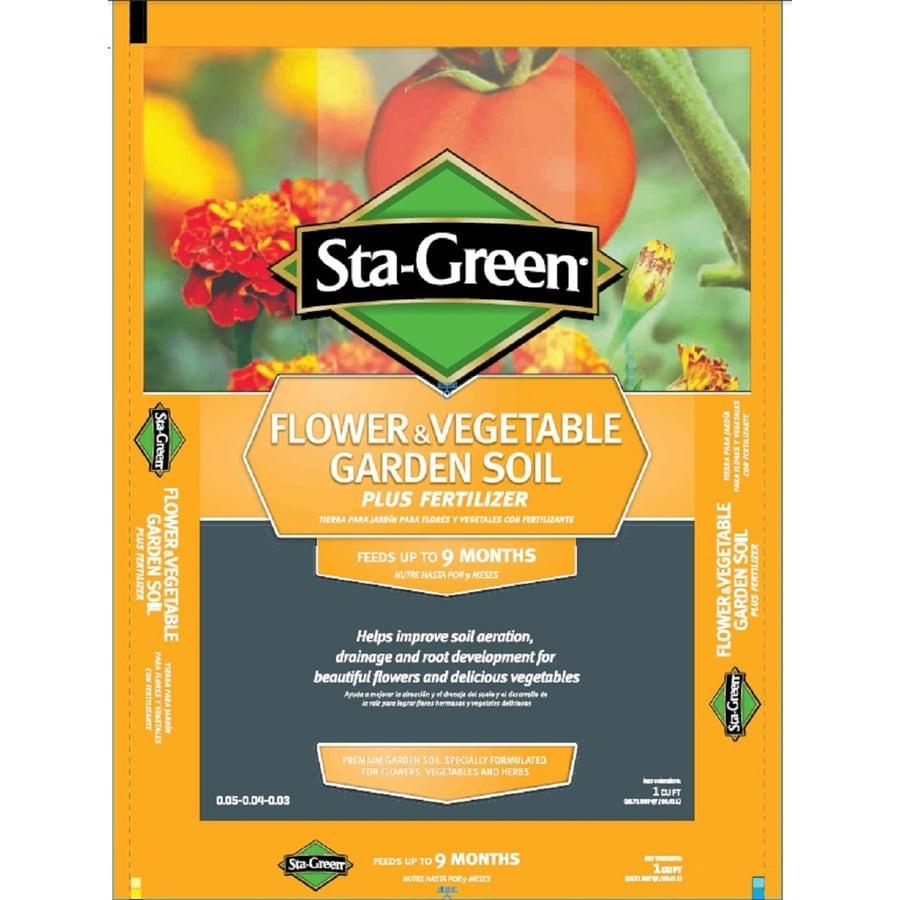 Shop sta green sta green 1 cu ft flower and vegetable garden soil at for Sta green garden soil