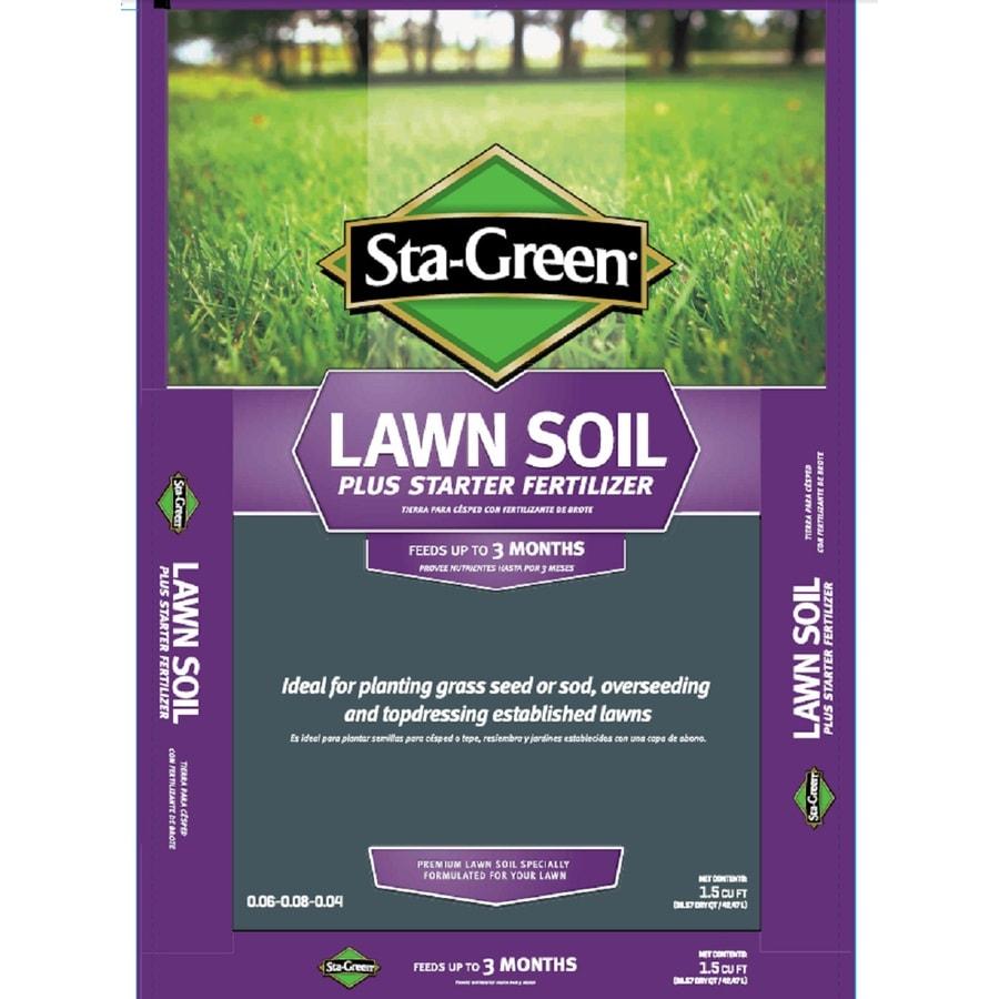 Shop sta green sta green 1 5 cu ft lawn soil at for Sta green garden soil