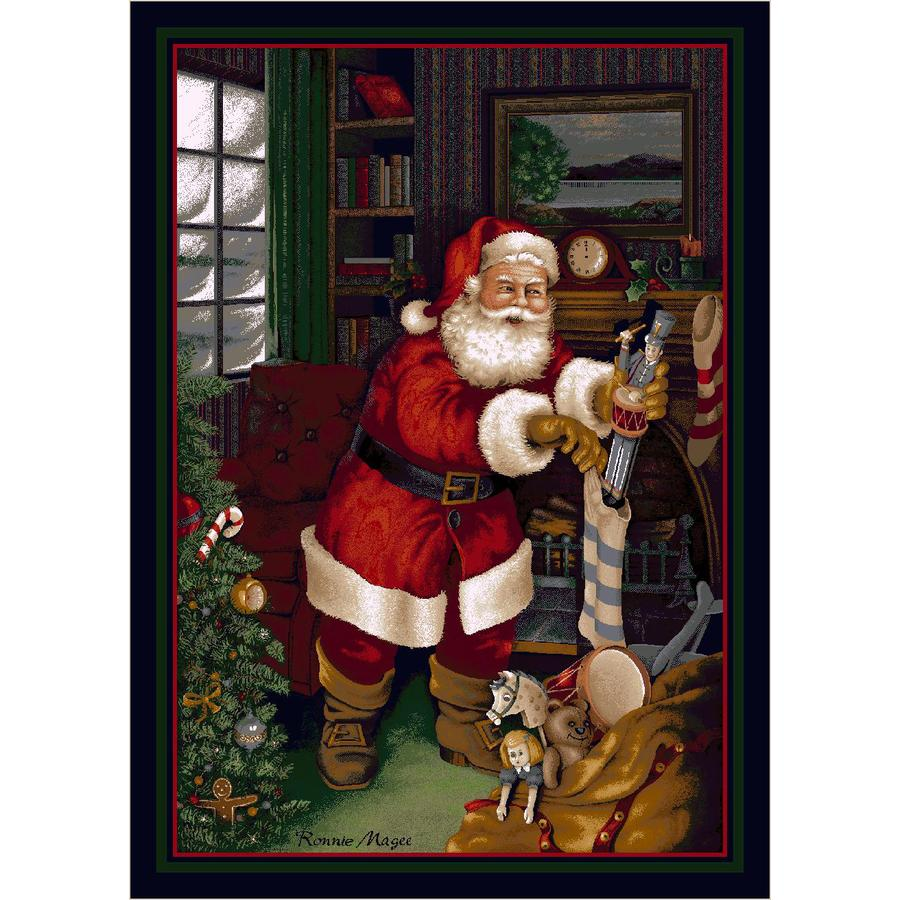 Milliken Holiday Multicolor Rectangular Indoor Tufted Holiday Area Rug (Common: 4 x 6; Actual: 46-in W x 64-in L)
