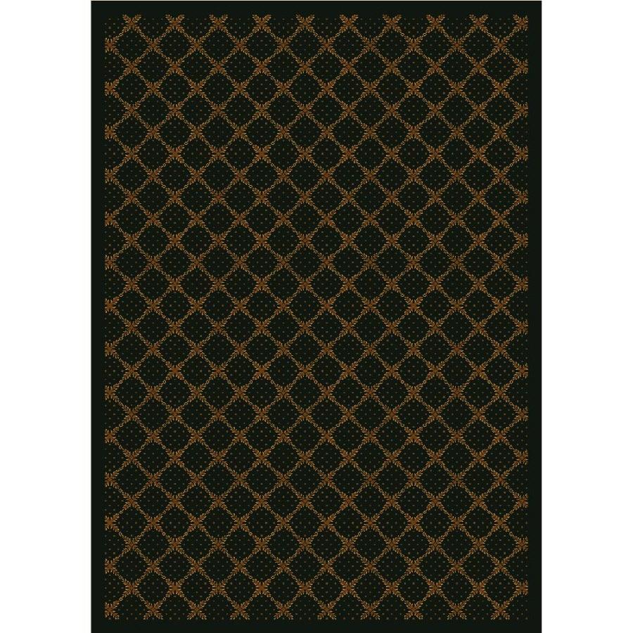 Milliken Kismet Rectangular Brown Transitional Tufted Area Rug (Common: 8-ft x 11-ft; Actual: 7.66-ft x 10.75-ft)