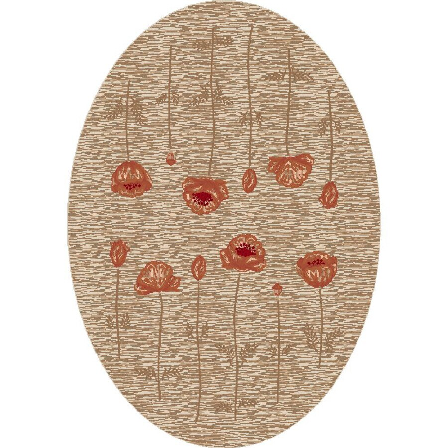 Milliken Poppy Multicolor Oval Indoor Tufted Area Rug (Common: 5 x 8; Actual: 64-in W x 92-in L)