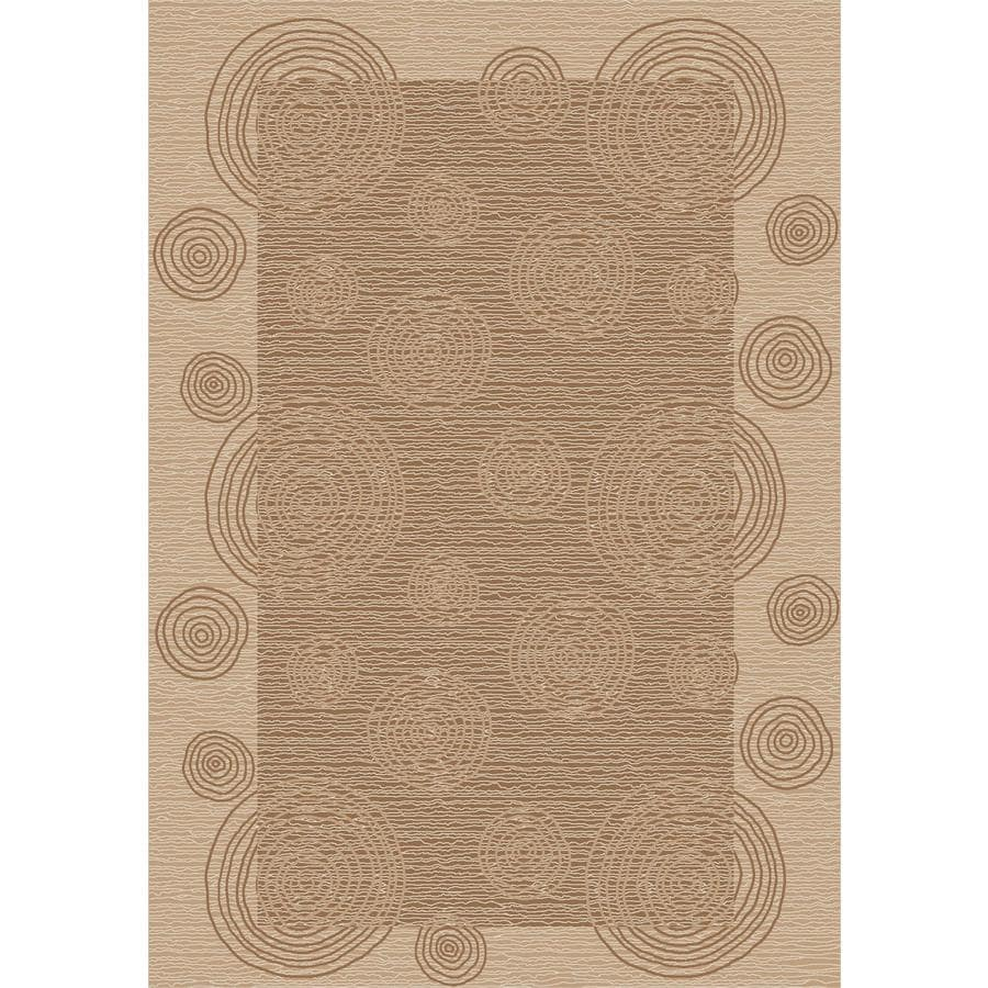 Milliken Wabi Rectangular Cream Transitional Tufted Area Rug (Common: 5-ft x 8-ft; Actual: 5.33-ft x 7.66-ft)