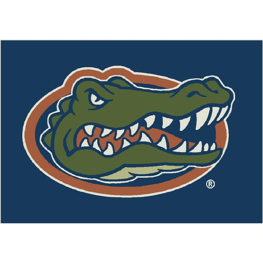 Milliken NCAA College Spirit Rectangular Blue Sports Tufted Accent Rug (Common: 2-ft x 4-ft; Actual: 24-in x 46-in)