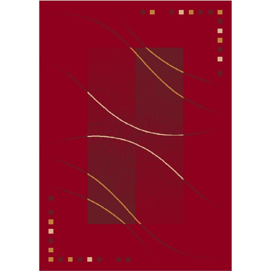 Milliken Caliente Rectangular Red Transitional Tufted Area Rug (Common: 4-ft x 6-ft; Actual: 3.83-ft x 5.33-ft)