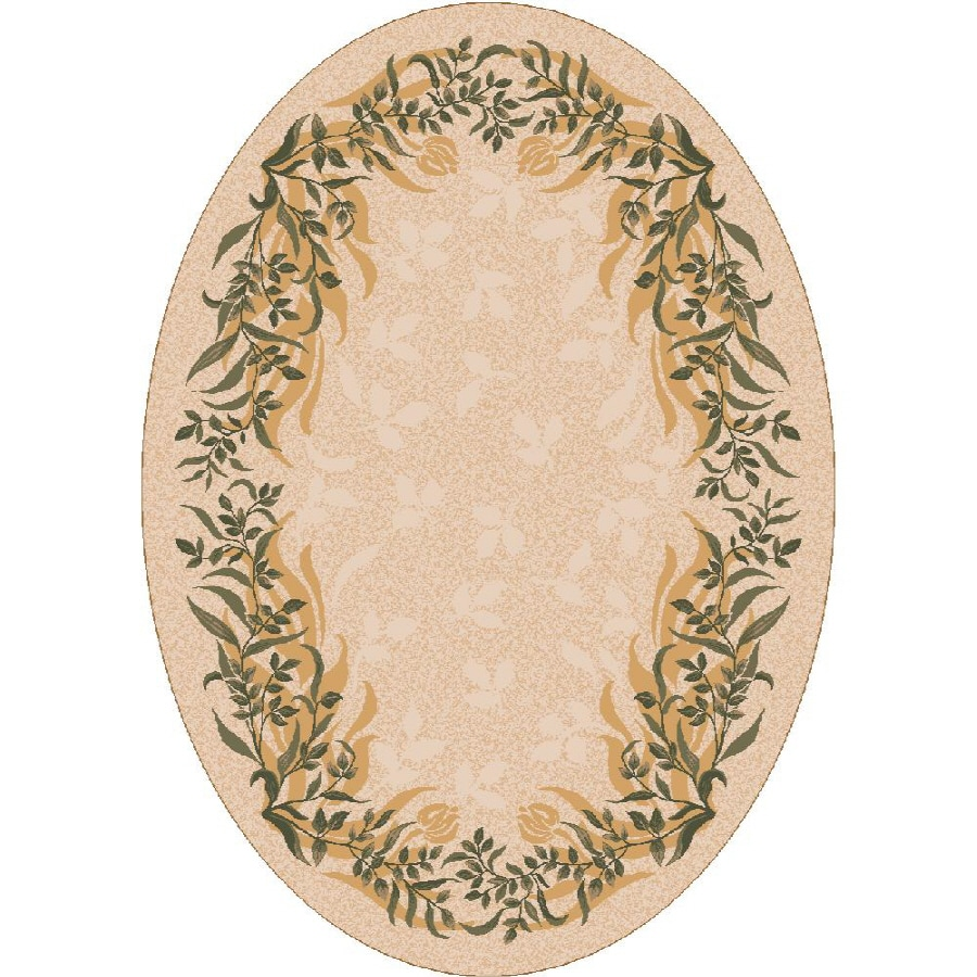 Milliken Baskerville Multicolor Oval Indoor Tufted Area Rug (Common: 4 x 6; Actual: 46-in W x 64-in L)