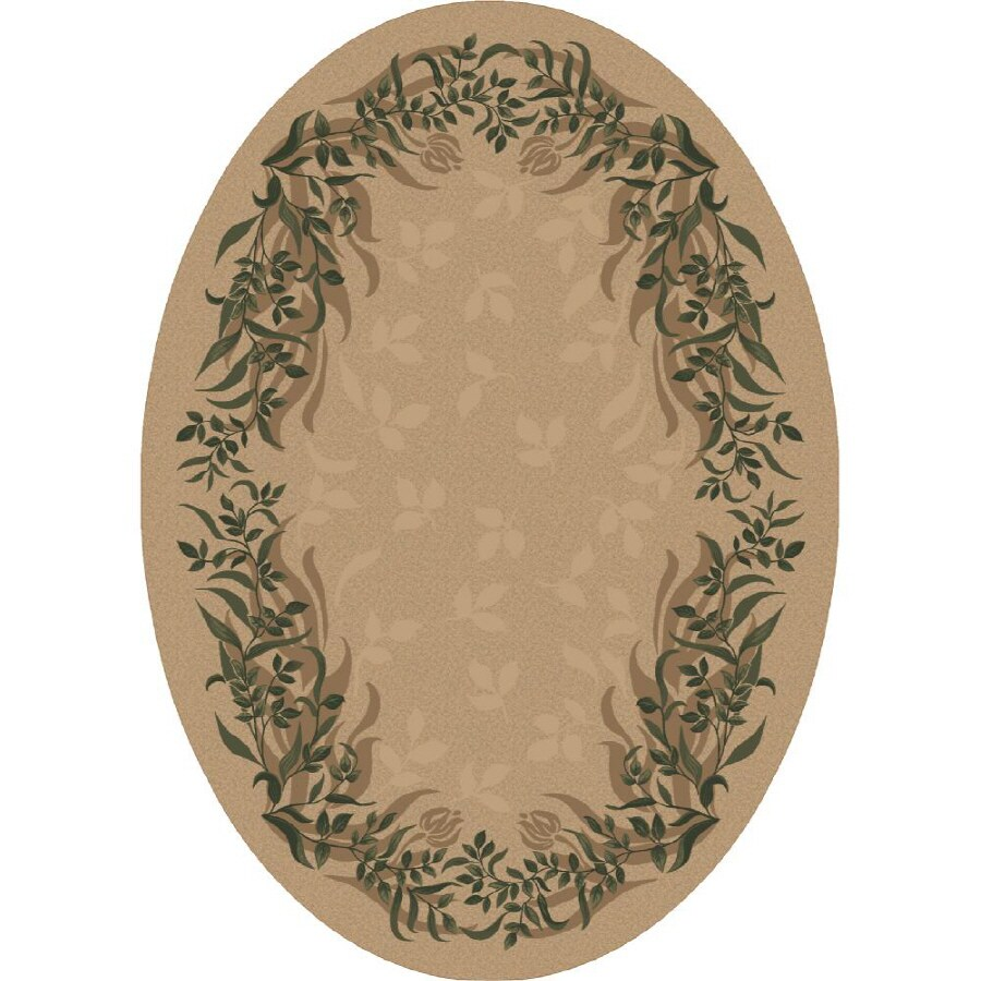 Milliken Baskerville Multicolor Oval Indoor Tufted Area Rug (Common: 8 x 11; Actual: 92-in W x 129-in L)