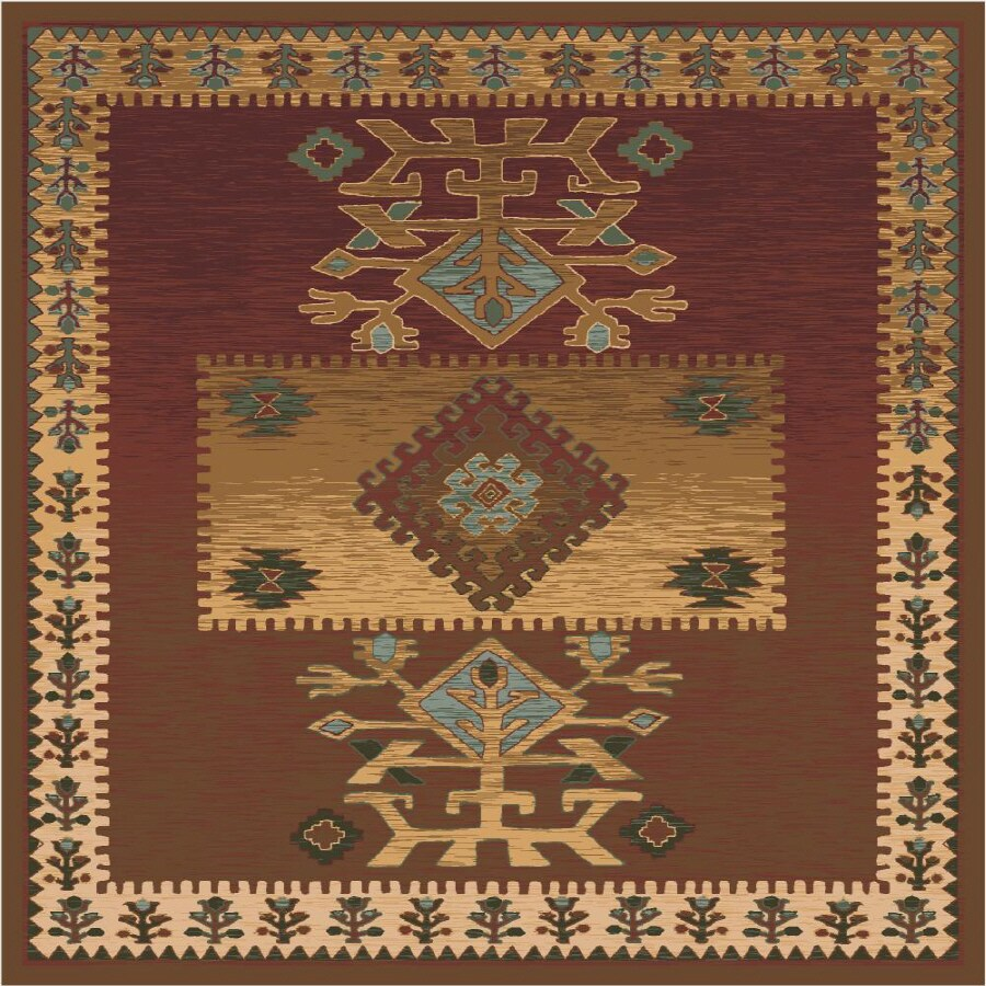Milliken Ahvas Square Brown Transitional Tufted Area Rug (Common: 8-ft x 8-ft; Actual: 7.58-ft x 7.58-ft)