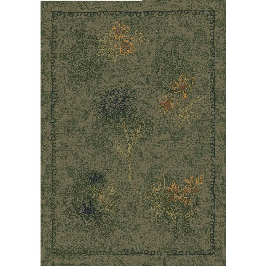 Milliken Vintage Rectangular Yellow Tufted Accent Rug (Common: 2-ft x 4-ft; Actual: 24-in x 46-in)