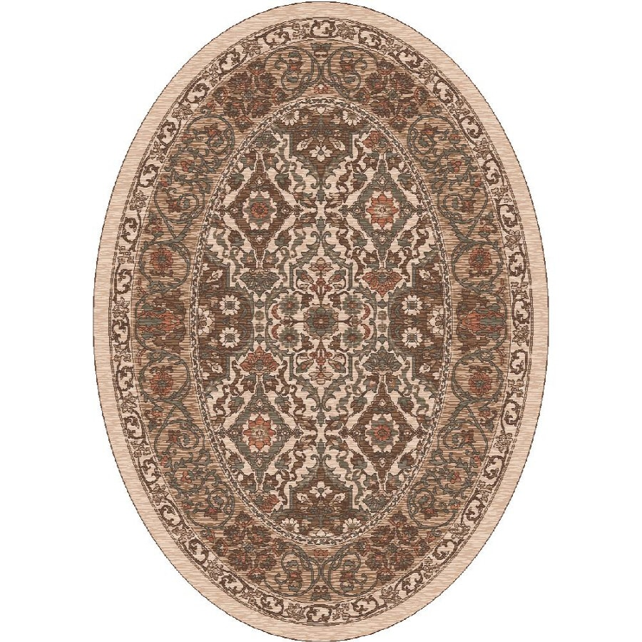 Milliken Sandakan Multicolor Oval Indoor Tufted Area Rug (Common: 4 x 6; Actual: 46-in W x 64-in L)