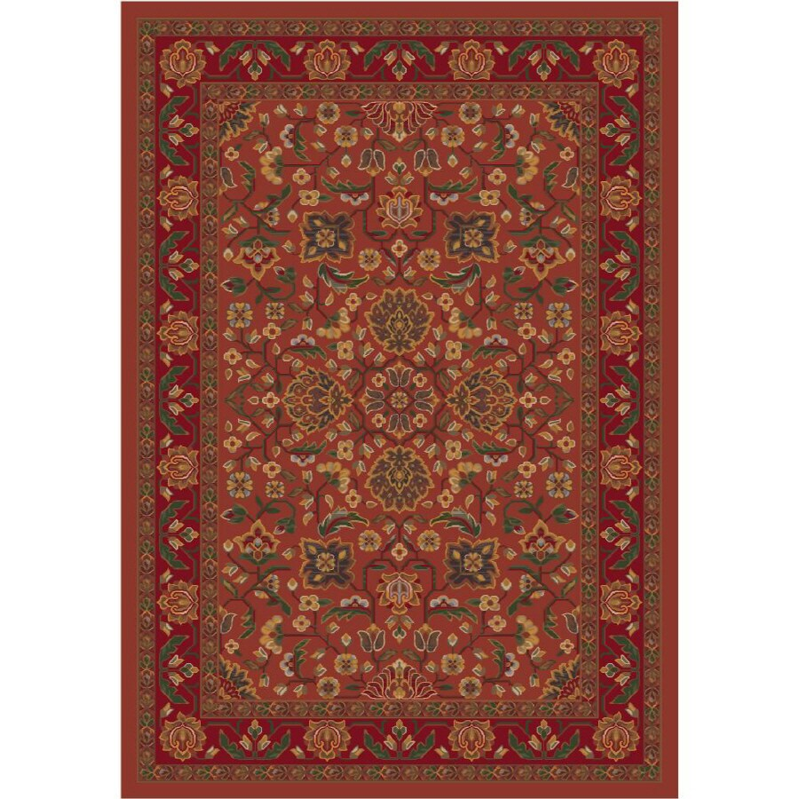 Milliken Abadan Rectangular Red Transitional Tufted Area Rug (Common: 5-ft x 8-ft; Actual: 5.33-ft x 7.66-ft)