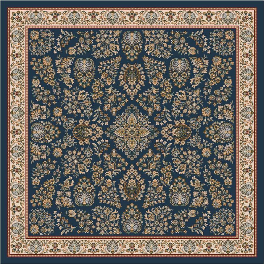 Milliken Halkara Multicolor Square Indoor Tufted Area Rug (Common: 8 x 8; Actual: 91-in W x 91-in L)