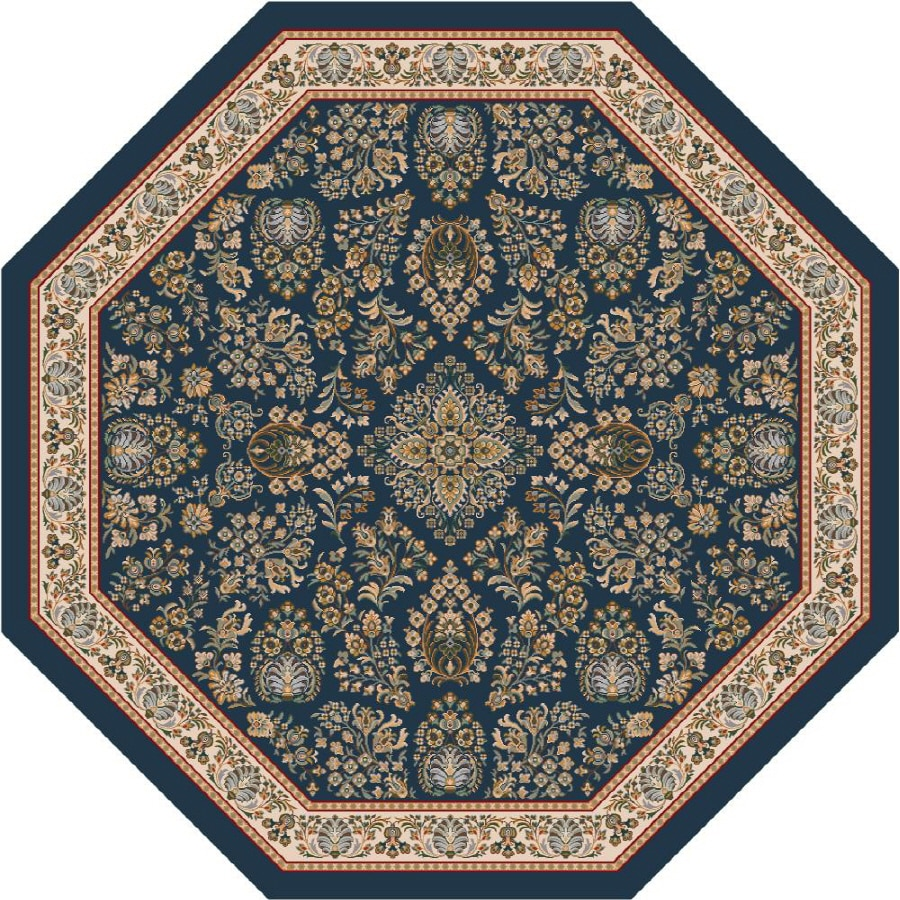 Milliken Halkara Multicolor Octagonal Indoor Tufted Area Rug (Common: 8 x 8; Actual: 91-in W x 91-in L)
