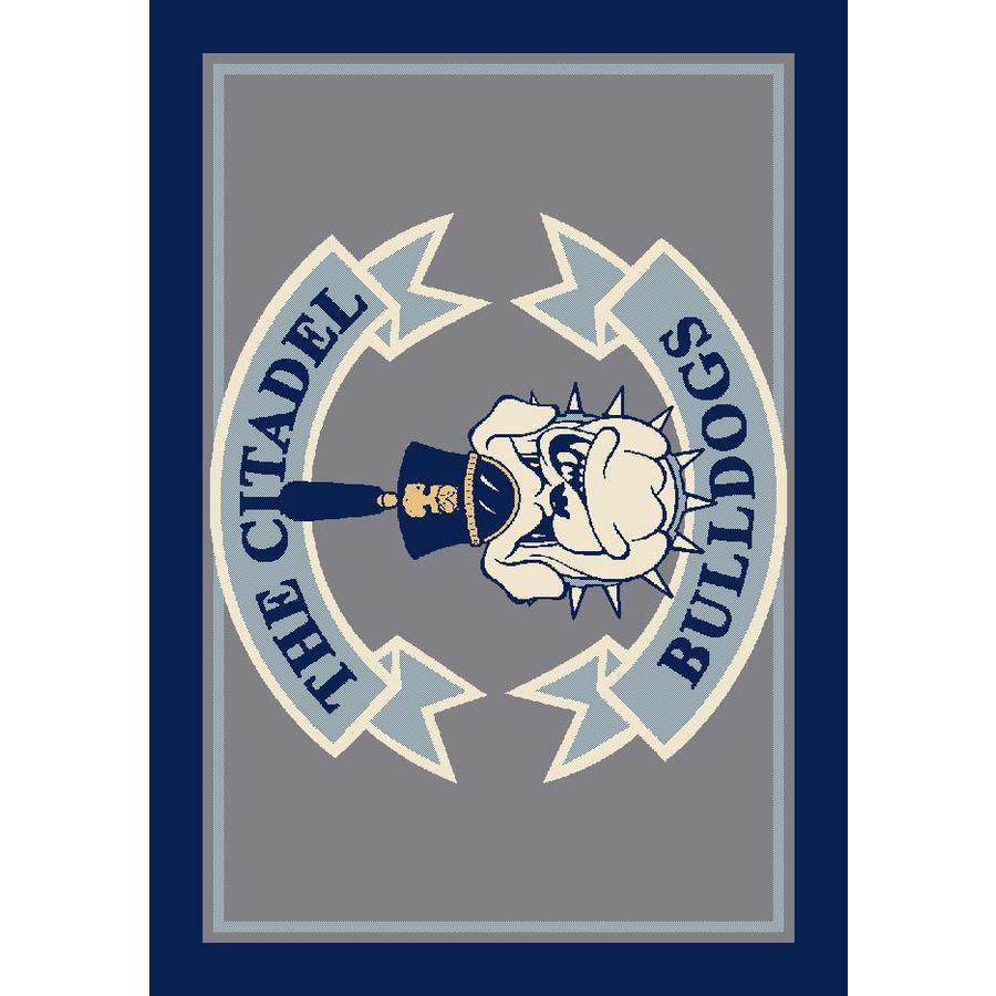 Milliken 2-ft 8-in x 3-ft 10-in Rectangular NCAA Citadel Bulldogs Accent Rug