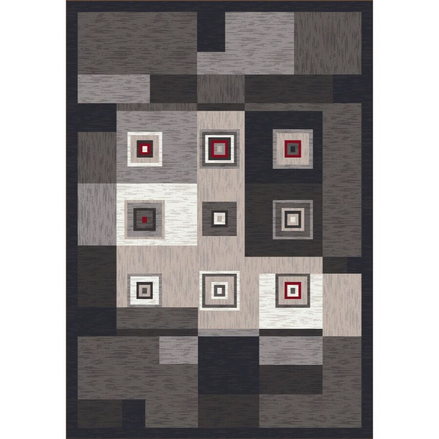 Milliken Bloques Multicolor Rectangular Indoor Tufted Area Rug (Common: 5 x 8; Actual: 64-in W x 92-in L)