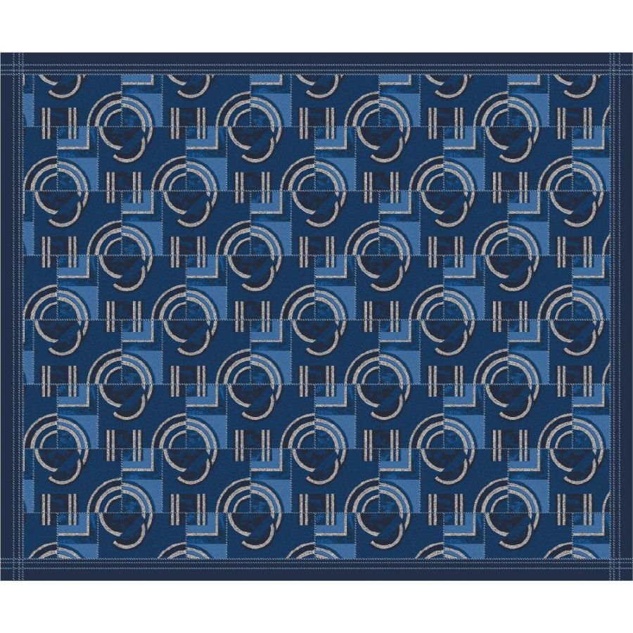 Milliken Modernes Rectangular Blue Transitional Tufted Area Rug (Common: 10-ft x 13-ft; Actual: 10.75-ft x 13.16-ft)