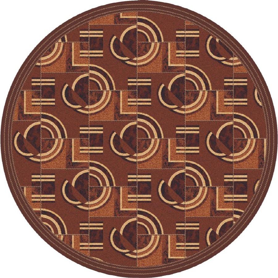 Milliken Modernes Multicolor Round Indoor Tufted Area Rug (Common: 8 x 8; Actual: 91-in W x 91-in L)
