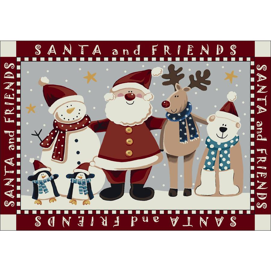 Milliken Holiday Multicolor Rectangular Indoor Tufted Holiday Area Rug (Common: 5 x 8; Actual: 64-in W x 92-in L)