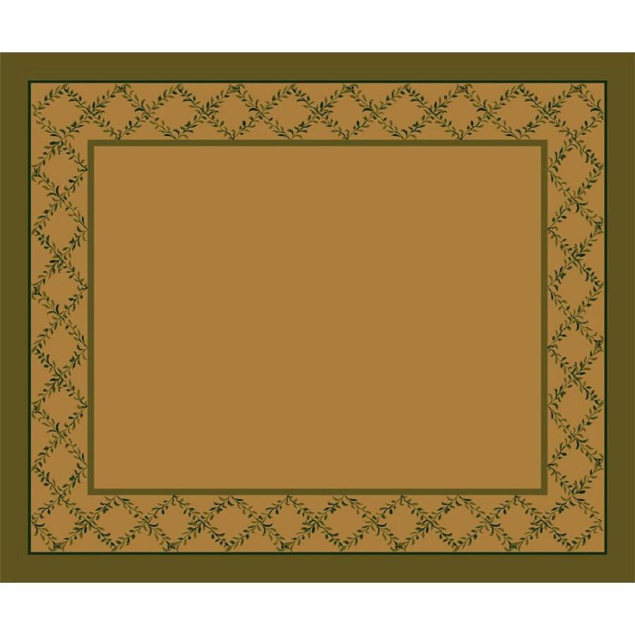 Milliken Arbor Rectangular Cream Transitional Tufted Area Rug (Common: 10-ft x 13-ft; Actual: 10.75-ft x 13.16-ft)