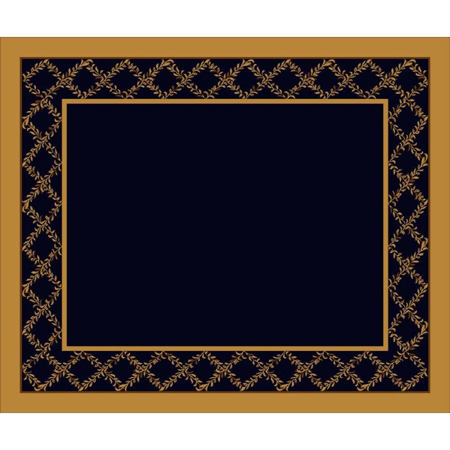 Milliken Arbor Rectangular Blue Transitional Tufted Area Rug (Common: 10-ft x 13-ft; Actual: 10.75-ft x 13.16-ft)