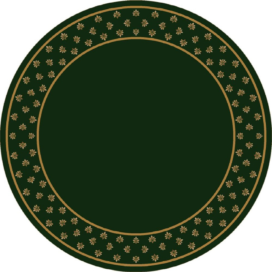 Milliken Royalty Round Green Transitional Tufted Area Rug (Common: 8-ft x 8-ft; Actual: 7.58-ft x 7.58-ft)
