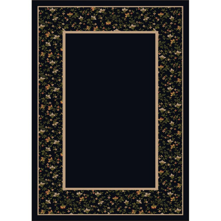 Milliken Appalachia Rectangular Black Transitional Tufted Area Rug (Common: 8-ft x 11-ft; Actual: 7.66-ft x 10.75-ft)
