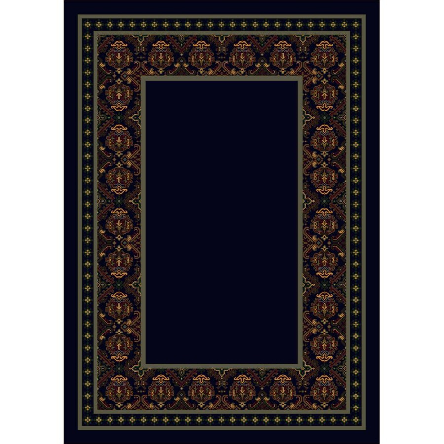 Milliken Karaman Rectangular Blue Transitional Tufted Area Rug (Common: 8-ft x 11-ft; Actual: 7.66-ft x 10.75-ft)