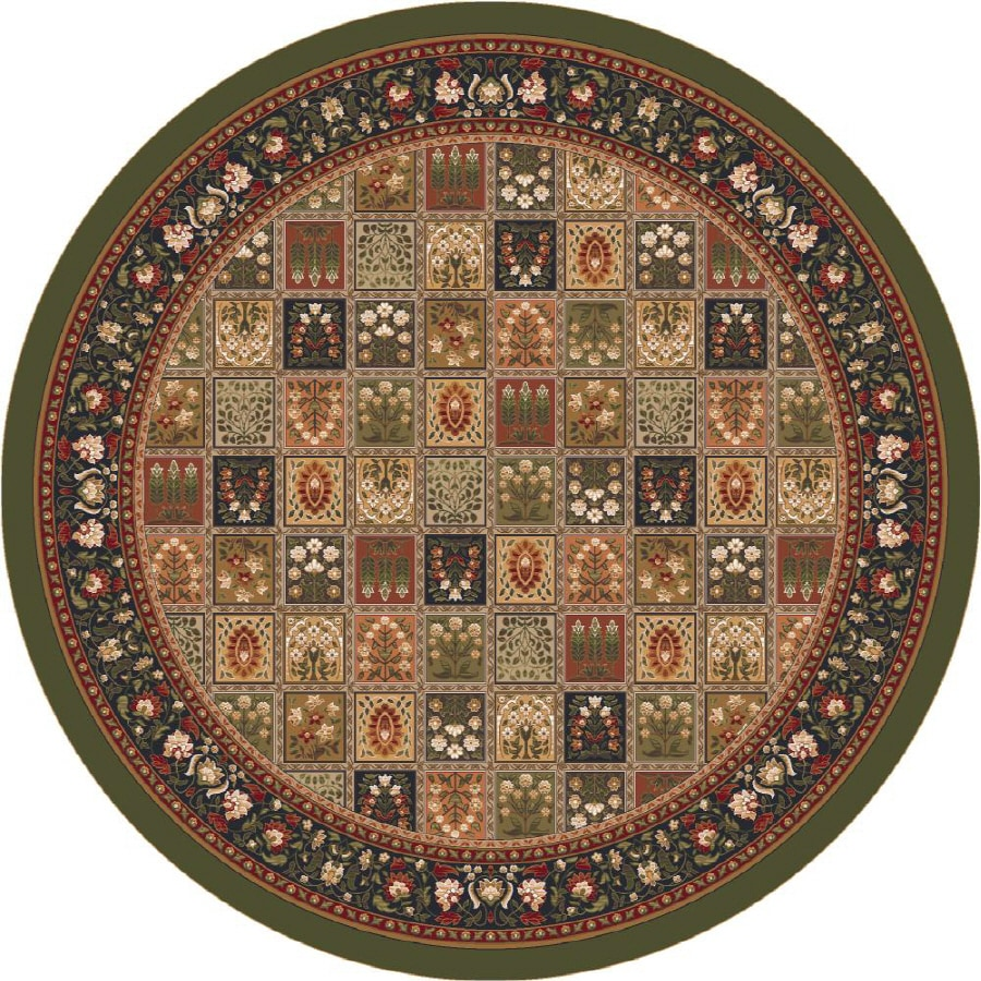 Milliken Pristina Multicolor Round Indoor Tufted Area Rug (Common: 8 x 8; Actual: 91-in W x 91-in L)