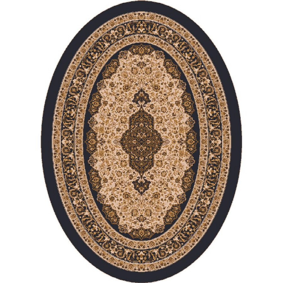 Milliken Tiraz Multicolor Oval Indoor Tufted Area Rug (Common: 4 x 6; Actual: 46-in W x 64-in L)