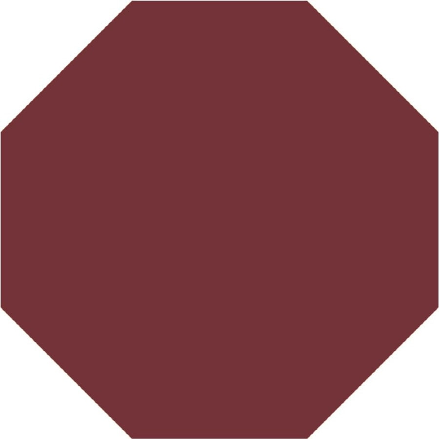 Milliken Harmony Octagonal Red Solid Tufted Area Rug (Common: 8-ft x 8-ft; Actual: 7.58-ft x 7.58-ft)