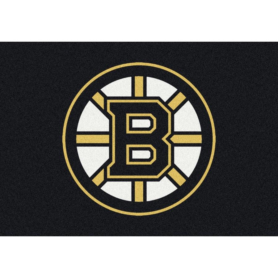 Milliken NHL Spirit Multicolor Rectangular Indoor Tufted Sports Area Rug (Common: 5 x 8; Actual: 64-in W x 92-in L)