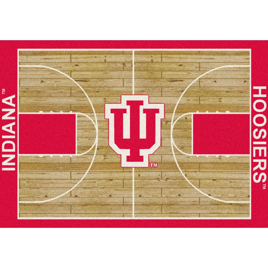 Milliken NCAA College Home Court Multicolor Rectangular Indoor Tufted Sports Area Rug (Common: 8 x 10; Actual: 92-in W x 129-in L)