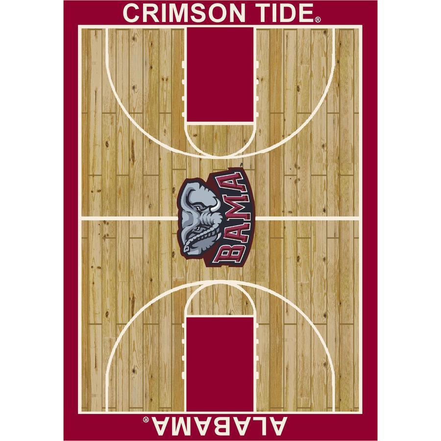 Milliken Collegiate Team Basketball Spirit Rectangular Multicolor Sports Tufted Area Rug (Common: 8-ft x 10-ft; Actual: 7.66-ft x 10.75-ft)