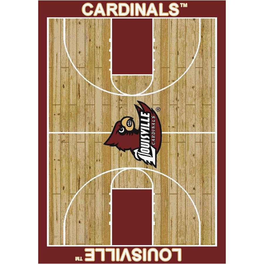 Milliken Rectangular Multicolor Sports Woven Area Rug (Common: 4-ft x 6-ft; Actual: 3.83-ft x 5.33-ft)