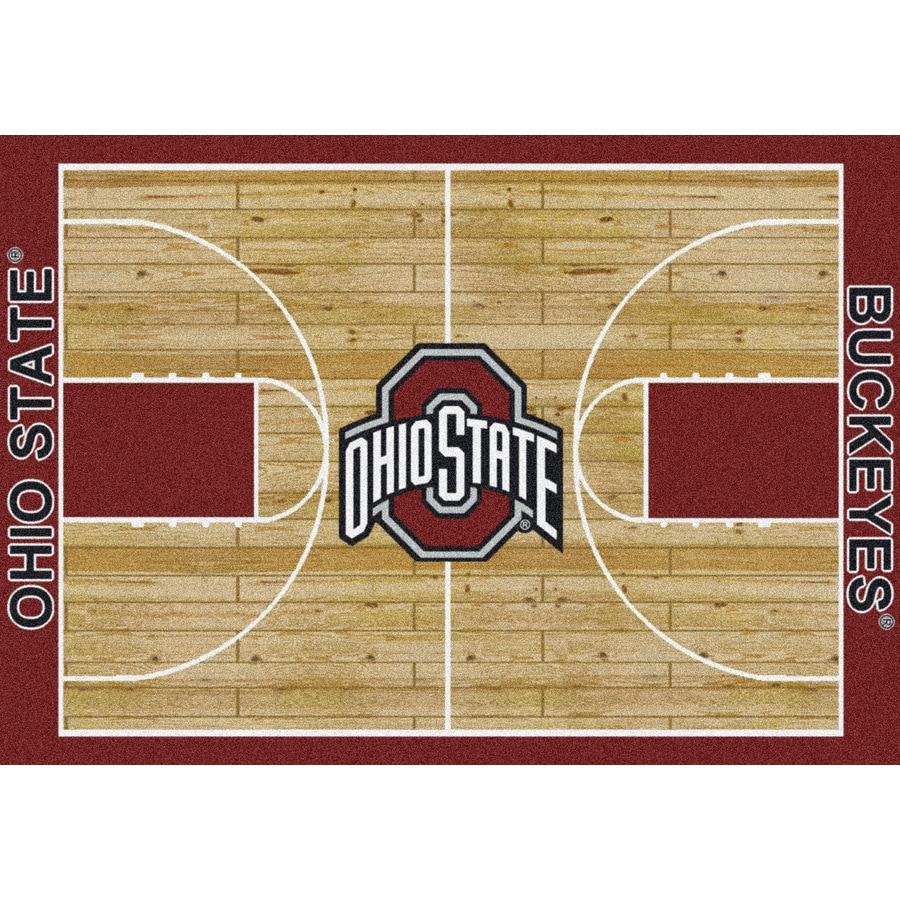 Milliken NCAA Home Court Multicolor Rectangular Indoor Tufted Sports Area Rug (Common: 5 x 8; Actual: 64-in W x 92-in L)