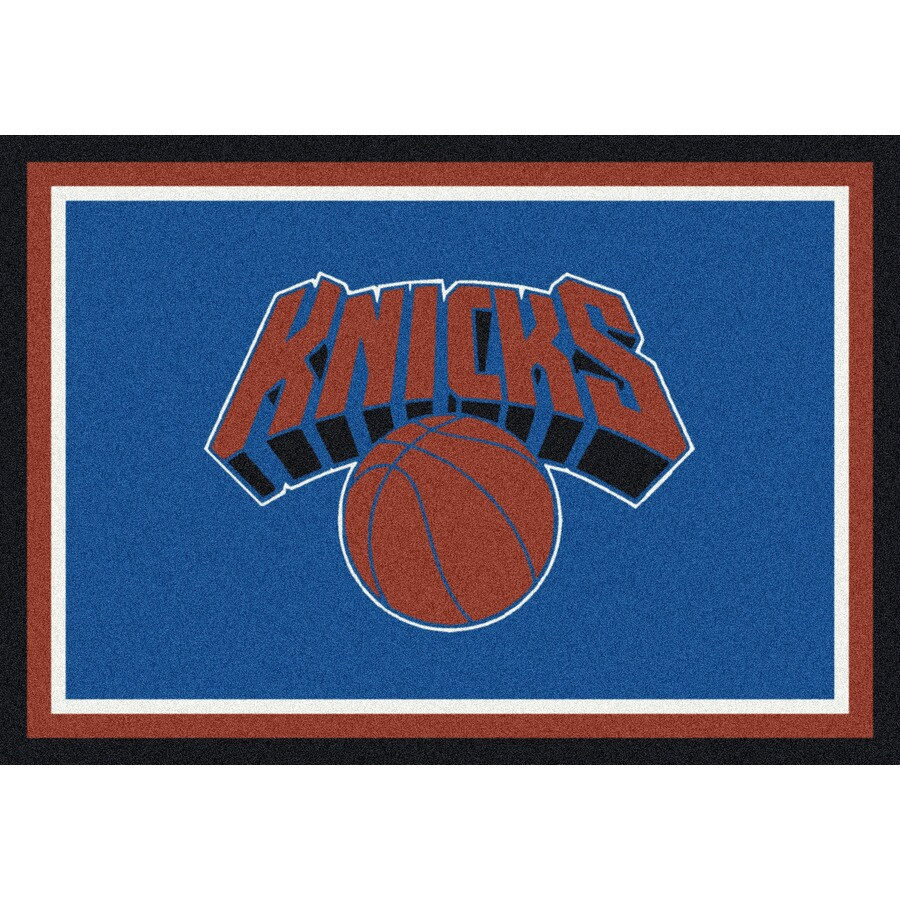 Milliken NBA Spirit Blue Rectangular Indoor Tufted Sports Throw Rug (Common: 3 x 4; Actual: 32-in W x 46-in L)