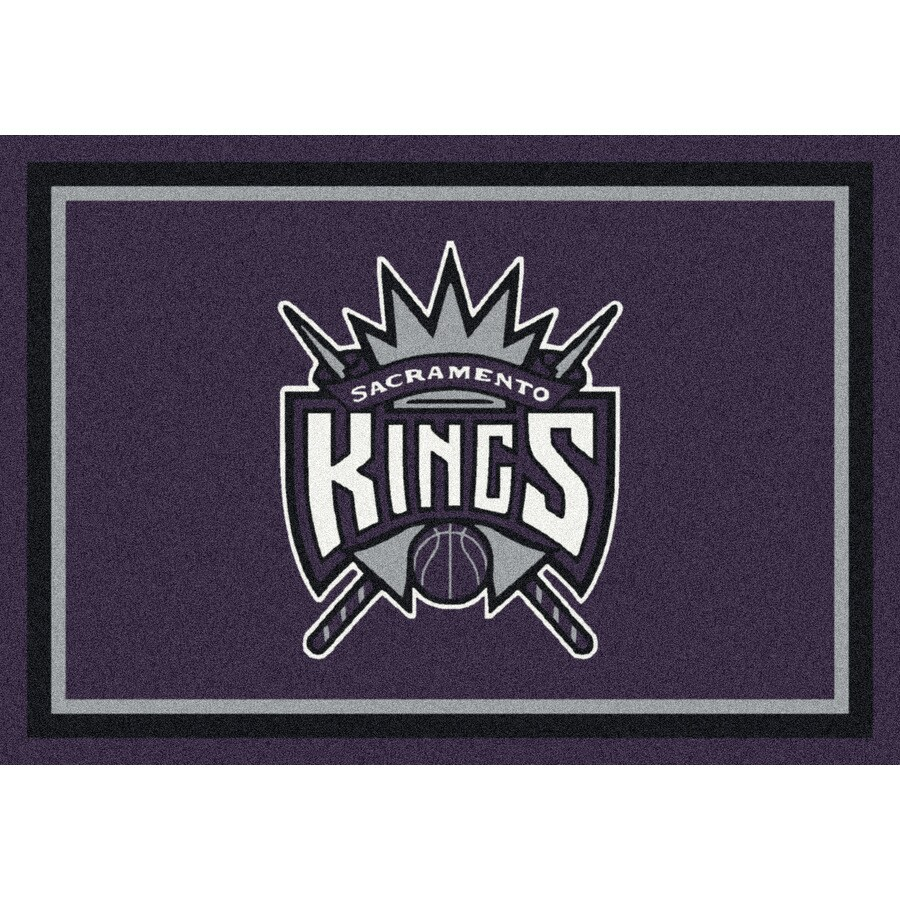 Milliken NBA Spirit Multicolor Rectangular Indoor Tufted Sports Area Rug (Common: 5 x 8; Actual: 64-in W x 92-in L)