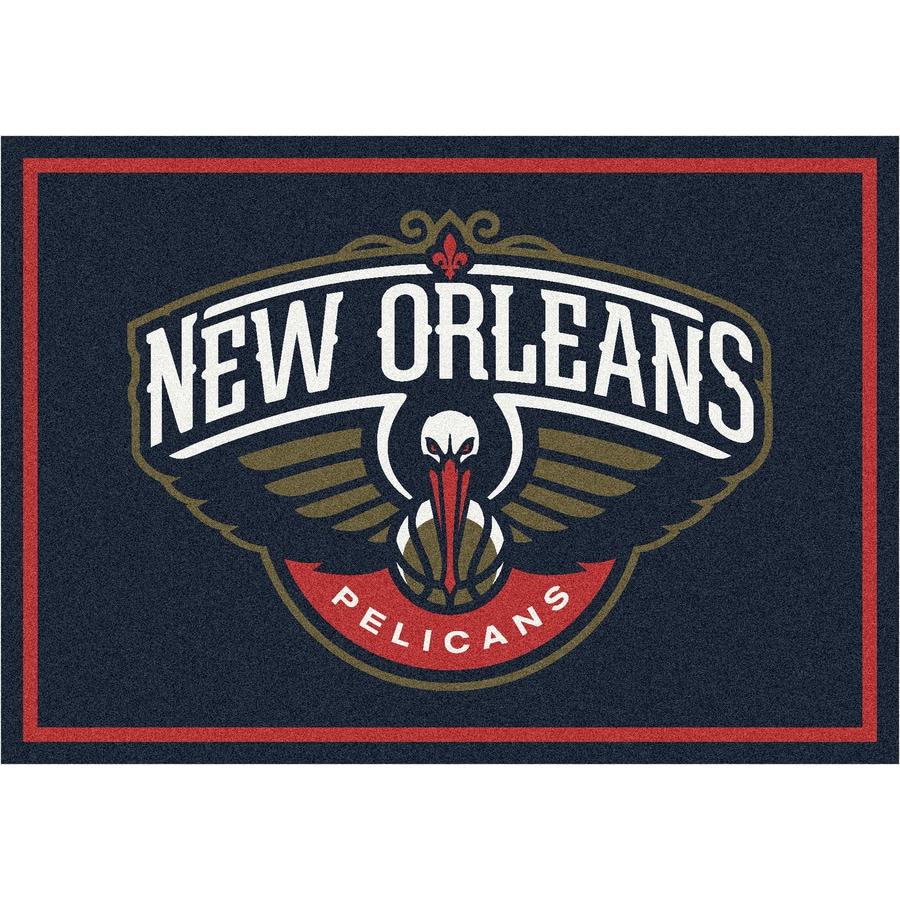 Milliken NBA Spirit Blue Rectangular Indoor Tufted Sports Throw Rug (Common: 2 x 4; Actual: 32-in W x 46-in L)