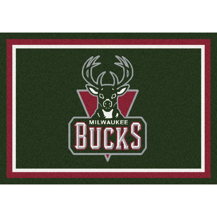 Milliken NBA Spirit Green Rectangular Indoor Tufted Sports Throw Rug (Common: 3 x 4; Actual: 32-in W x 46-in L)