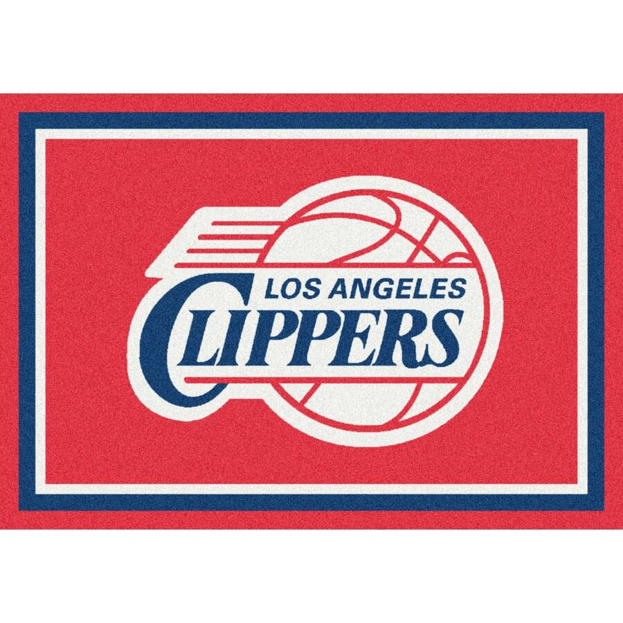 Milliken NBA Spirit Red Rectangular Indoor Tufted Sports Throw Rug (Common: 3 x 4; Actual: 32-in W x 46-in L)