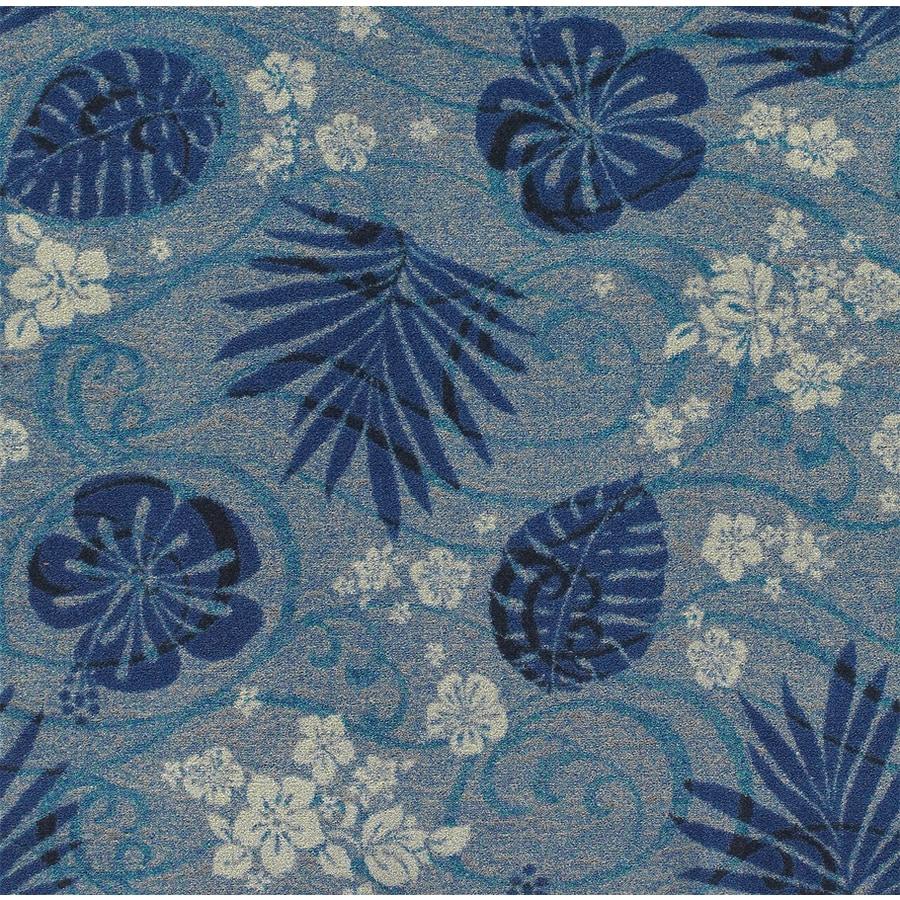 Joy Carpets Kaleidoscope Indigo Cut and Loop Indoor Carpet