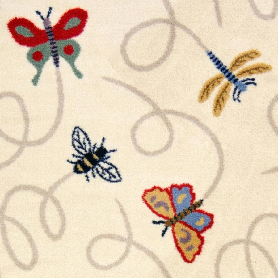 Joy Carpets Kaleidoscope Beige Cut and Loop Indoor Carpet